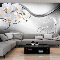 Vlies Tapete ! Top ! Fototapete ! Wandbilder XXL ! 300x210 Cm ABSTRAKT  BLUMEN ORCHIDEE ORNAMENT GRAU B A 0162 A C