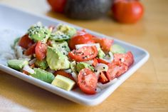 Sesame Tomato and Avocado Salad