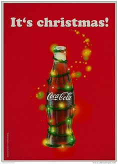 The relation of RED with Christmas occured after Coca Cola advertised it this way. Before then Green was the prominate Christmas colour.