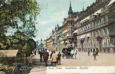 1900 stockholm | Here's a card showing Vasa street or Vasagatan in Stockholm, Sweden ...