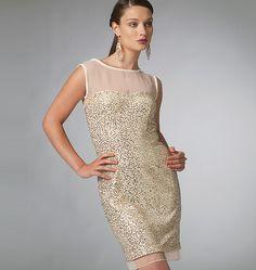 Illusion neckline dress pattern