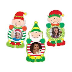 Christmas Elf Picture Frame Magnet Craft Kit - OrientalTrading.com