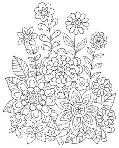 New Guide to Coloring for Crafts, Adult Coloring Books, and Other Coloristas!: Tips, Tricks, and Techniques for All Skill Levels! (Design Originals) Step-by-Step Lessons & 100 Ready-to-Color Designs Printable Adult Coloring Pages, Cute Coloring Pages, Doodle Coloring, Flower Coloring Pages, Mandala Coloring Pages, Coloring Sheets, Coloring Books, Floral Embroidery Patterns, Hand Embroidery