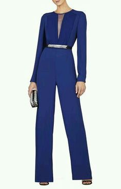 Trendy Birthday Outfit Ideas For Women Jumpsuits Long Sleeve 41 Ideas Blue Jumpsuits, Jumpsuits For Women, Jumpsuit Outfit, Look Chic, African Fashion, Casual Wear, Evening Dresses, Chiffon, Fashion Outfits
