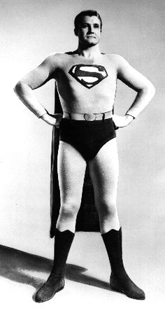 Above, George Reeves as Superman. For the baby boomer generation, George Reeves is the one and only Superman in their eyes. Fotos Do Superman, Real Superman, Superman Photos, Death Of Superman, Original Superman, Superman Characters, Superman Movies, Comic Book Characters, Comic Books