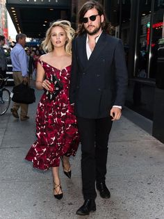 dianna agron look midi dress and winston marshall