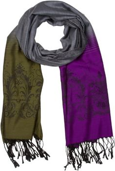 Sakkas 212CY Multi Color Garden Paisley Pashmina  Olive  Purple ** Read more reviews of the product by visiting the link on the image.