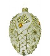 Christmas Ornament - Clear and Gold Faberge Egg