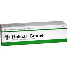 HALICAR Creme:   Packungsinhalt: 50 g Creme PZN: 07511815 Hersteller: DHU-Arzneimittel GmbH & Co. KG Preis: 6,73 EUR inkl. 19 % MwSt.…