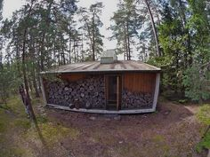 The Box: Ralph Erskine's Precursory Tiny House in the Swedish Woods : TreeHugger