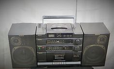 SONY CFD-454 CD Radio Cassette Portable AM/FM Radio BOOMBOX detachable speakers