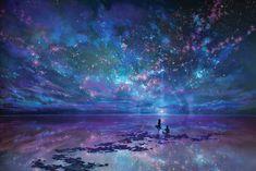 Ocean, Stars, Sky, and You by muddymelly.deviantart.com