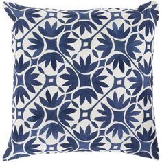 KD Spain: Decorative Carole Floral 18-inch Throw Pillow OVERSTOCK