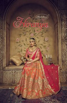 Book order or inquiry now call or whatsapp : ( ) 8866444471 riddhoo fashion hiranya wedding wear silk lehanga catalogue wholesale price Wedding Wear, Wedding Suits, Lehenga Collection, Brides And Bridesmaids, Bridal Lehenga, Salwar Kameez, Traditional Outfits, Party Wear, Designer Lehanga
