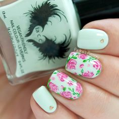 Soft Vintage Nail Art by Paulina's Passions