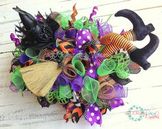 Halloween Witch Table Centerpiece by aDOORableDecoWreaths on Etsy, $69.99