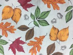 Assorted Sizes Vinyl / Flannel Backed Tablecloths Fall Leaves Acorns Multi-color #Mainstream