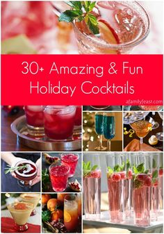 30+ Amazing and Fun Holiday Cocktails - A great collection of gorgeous holiday cocktails!  Pin this now - you'll want it for your next party! (scheduled via http://www.tailwindapp.com?utm_source=pinterest&utm_medium=twpin&utm_content=post389595&utm_campaign=scheduler_attribution)