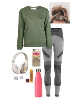 """sick again"" by abby-walker02 ❤ liked on Polyvore featuring adidas, Topshop, S'well, Casetify, Burt's Bees, Beats by Dr. Dre and Blue Nile"