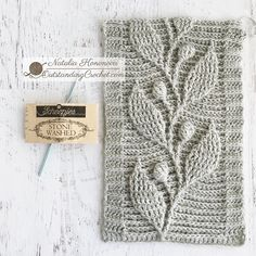 Couldn't resist to complete this swatch yesterday night. This time out of legendary Scheepjes Stone Washed yarn (cotton / acrylic; Crochet Slouchy Hat, Crochet Cable, Crochet Lace Edging, Crochet Chart, Hand Crochet, Afghan Crochet, Crochet Stitches Patterns, Crochet Designs, Stitch Patterns