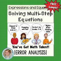by Free to Discover Solving Linear Equations, Equation Solving, Math Expressions, Teaching Math, Math 8, Higher Order Thinking, India School, 8th Grade Math, Thinking Skills