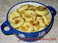 Ленивые вареники с картошкой и жареным луком