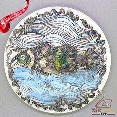 CHARMING FRIDGE MAGNET FISH WALL DECOR DIY WHITE STONE ZR3000100 #ZL #FridgeMagnet