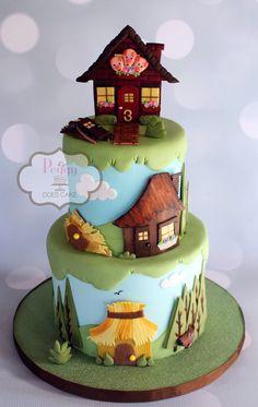 Peggy Does Cake, Brandon, Mississippi ~ Three Little Pigs Cake!