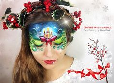 CHRISTMAS CANDLE Face Painting by Silvia Vitali https://www.facepainting.academy/face-painting-academy-pre-lancio/: