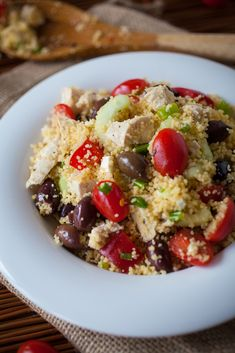 Greek Couscous & Chicken Salad