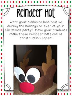 Step into 2nd Grade with Mrs. Lemons--reindeer Hat
