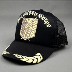 Attack On Titan The Survey Corps Logo Cap Baseball Hat Snapback #AttackOnTitan #TheSurveyCorps #Logo #Cap #Baseball #Hat #Snapback