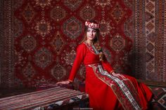 The Red Color of Armenian Garments and Rugs
