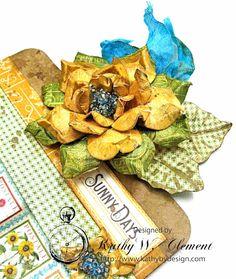 Paper Bouquet, Infatuation, Graphic 45, Flourish, Mini Albums, Challenges, Floral, Sunflowers, Design