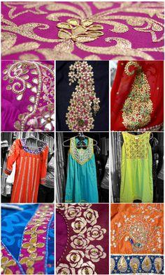 Trims Sewing Initiative Indian Embroidered Prom Dress Border 9 Yd Trim Green Craft Lace Zari Gota Patti