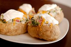 Ww Ham and Cheese Stuffed Potatoes-7 Points. Photo by CulinaryExplorer
