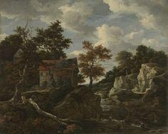 Rocky landscape, Jacob Isaacksz. van Ruisdael, 1650 - 1682