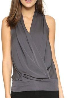 Stylish charcoal grey top