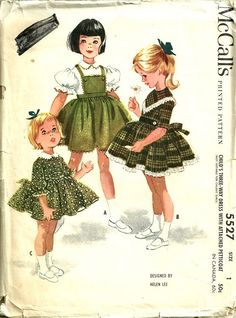 McCalls 5527 Helen Lee Girls Three-Way Dress with Attached Petticoat by patterngate, via Flickr