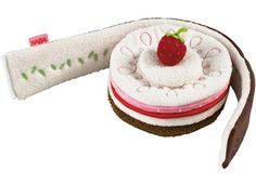 zachte zoete taart met aardbeitje