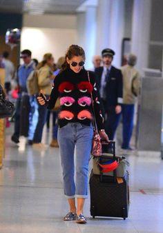 dccf90c2542c Splurge  Izabel Goulart s Santos Dumont Airport Fendi Fur Eyelash  Turtleneck and Mini Python Peekaboo Bag (The Fashion Bomb Blog)