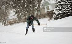 Stock Photo : Man Shoveling Snow