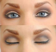 not too heavy nude smokey eye