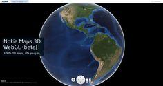 Nokia maps 3D WebGL. http://maps3d.svc.nokia.com/webgl/