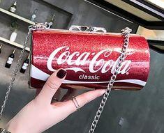 Taška taška žena 2018 Tisk rameno diagonální balíček Ženská postava Trojrozměrné plechovky Cola Bag Girl mobilní telefon Bag Beverages, Drinks, Coca Cola, Canning, Drinking, Coke, Drink, Home Canning, Cola
