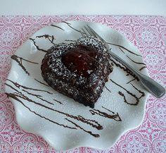 Chocolate Molten Lava Cake for Valentine's Day