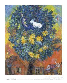 Otoño en la aldea Láminas por Marc Chagall en AllPosters.es