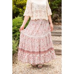 Swish away in this rose pink maxi skirt. Lace detailing, adjustable beaded ties and elastic waist. Rayon Adjustable Beaded ties at waist Elastic waist Cold hand wash only Model is a and is wearing the M Maxi Skirt Boho, Lace Skirt, Pink Maxi, Hair Beads, Pink Roses, Skirts, Model, How To Wear, Dresses