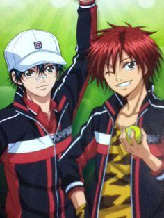Echizen Ryoma & Kintarou Tooyoma - Prince of Tennis Prince Of Tennis Anime, Disney Cartoons, Manhwa, Manga Anime, Otaku, Nerd, Drawings, Tennis, Princesses