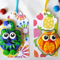 love these!   Gift Tag Lion & Owl for Baby Shower, birthday or any occasion / Polymer clay animal series